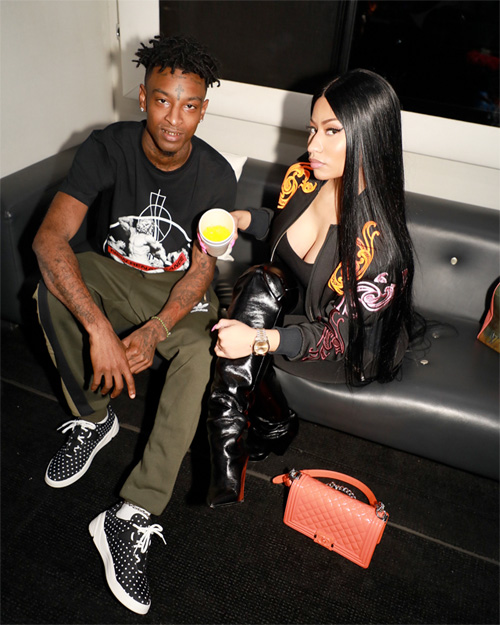 Nicki Minaj Performs Live With 21 Savage, Yo Gotti & Rae Sremmurd Live At The Philipp Plein S/S18 Show During NYFW