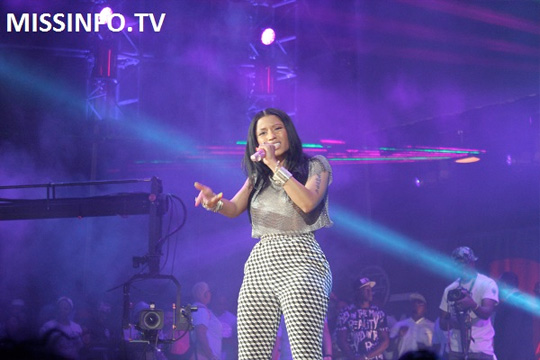 Nicki Minaj Backstage & Performing At Hot 97 2014 Summer Jam