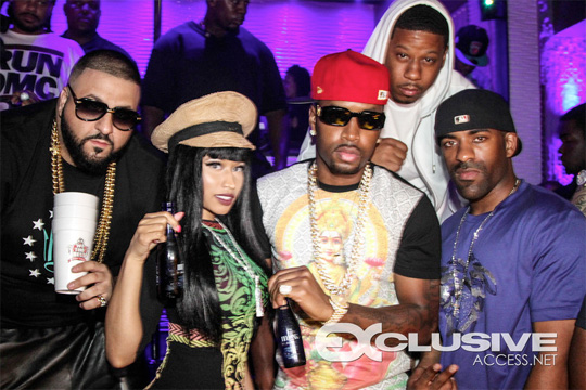 Nicki Minaj Parties At Room Service Restaurant Lounge In Miami