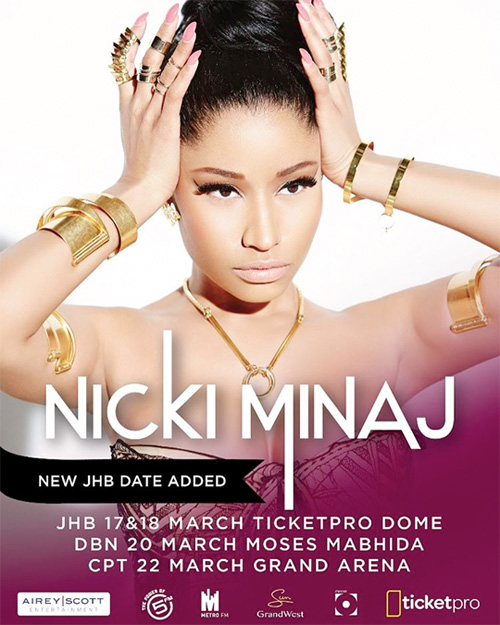 Nicki Minaj Adds A Second Johannesburg Date To Her Mini Tour Across South Africa