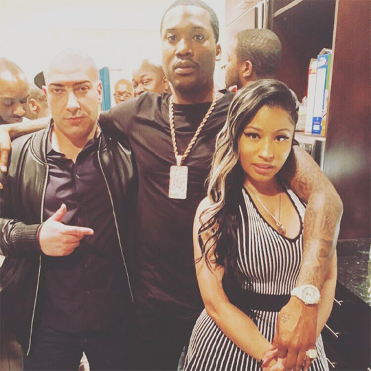 Nicki Minaj Surprises Meek Mill With A Watch & Cake For His Birthday