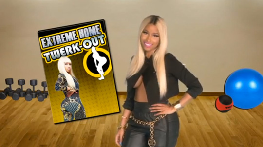 Nicki Minaj Twerk Out Infomercial For Ellen DeGeneres