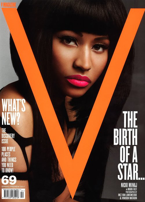 nicki minaj covers v magazine x interview with e! online | young money ...