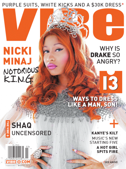 Nicki Minaj Covers VIBE Magazine February-March Issue