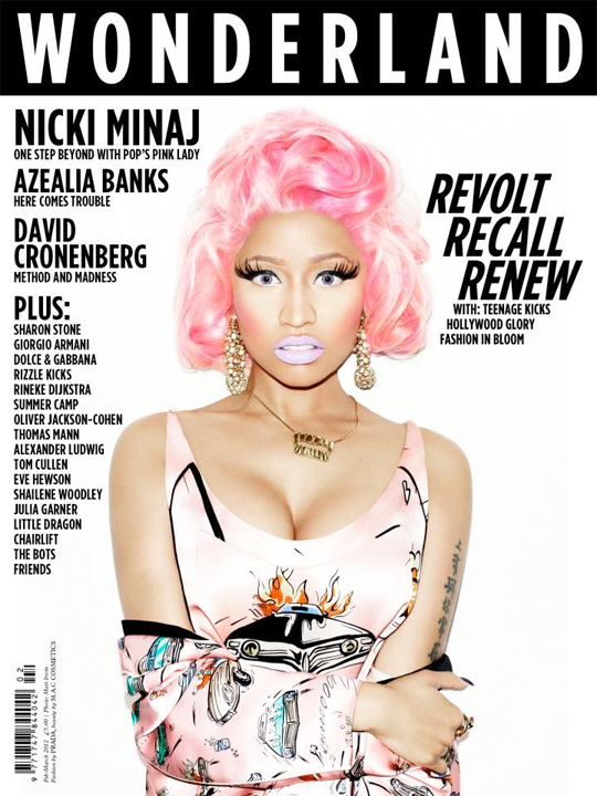Nicki Minaj Covers Wonderland Magazine Feb/Mar Issue « MikeBanger ...