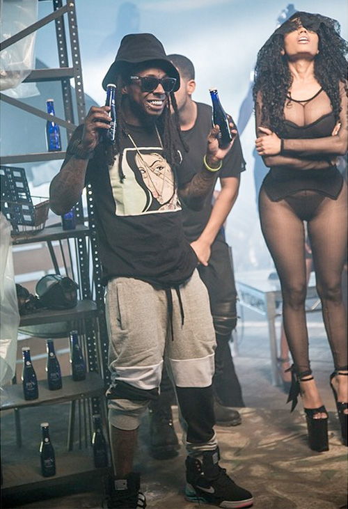 On set nicki minaj lil wayne drake only video shoot5 jpg