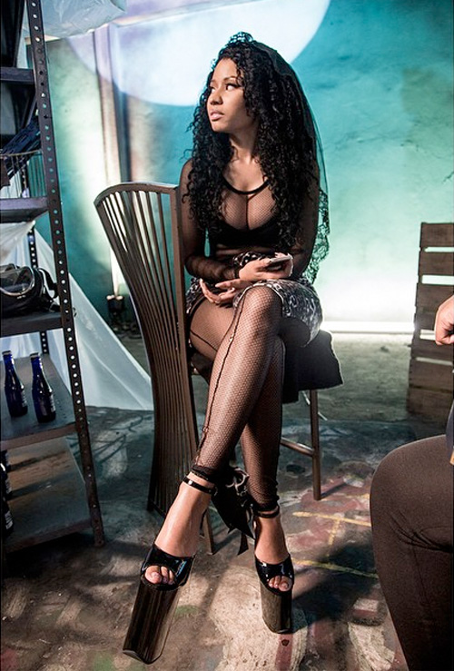 On Set Of Nicki Minaj, Lil Wayne & Drake Only Video Shoot