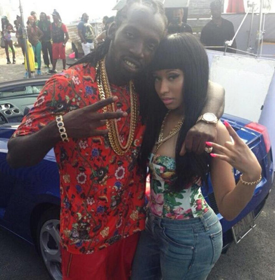 On Set Of Mavado & Nicki Minaj Give It All To Me Video Shoot