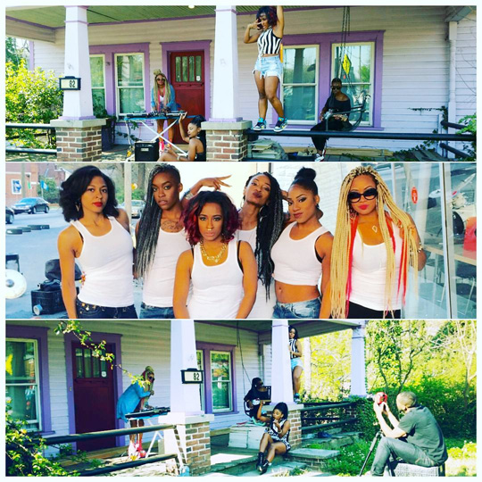 On Set Of Shanell Open Heart Surgery Video Shoot In Atlanta