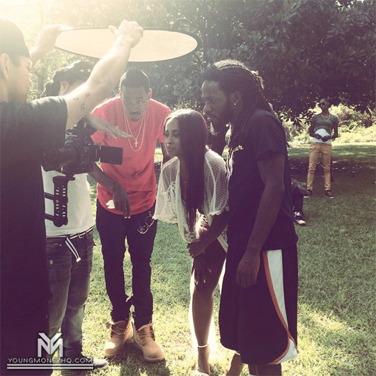 On Set Of Tone The Goat, Shanell & J Nez Uh Huh Video Shoot In Atlanta
