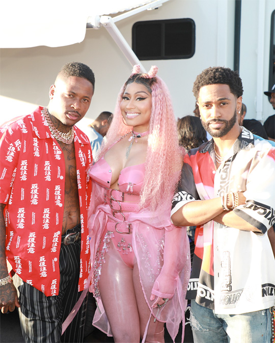 On Set Of YG, Nicki Minaj, 2 Chainz, Big Sean & DJ Mustard Big Bank Video Shoot