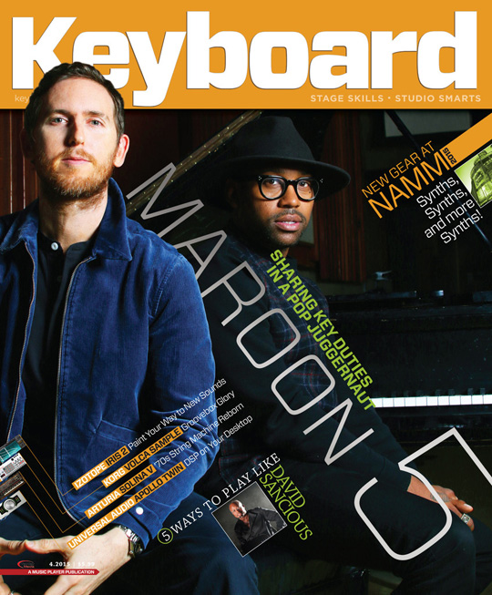 PJ Morton Covers April 2015 Issue Of Keyboard Magazine