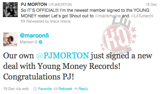PJ Morton Signs To Young Money Entertainment