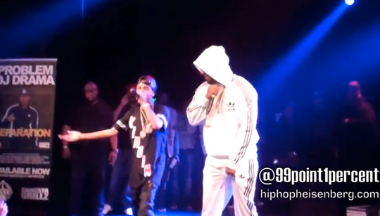 Problem Brings Out Tyga & The Game During Show In Los Angeles