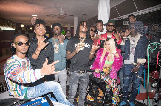 On Set Of Rae Sremmurd, Nicki Minaj & Young Thug Throw Sum Mo Video Shoot