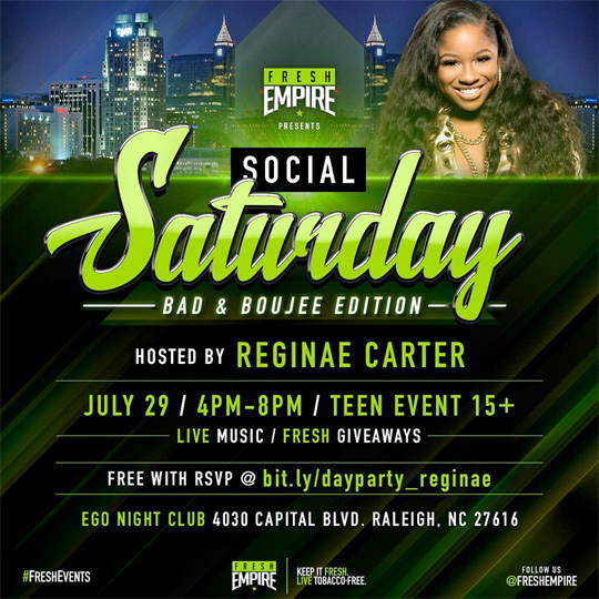 Reginae Carter To Host An Event At EGO Nightclub In Raleigh This Saturday