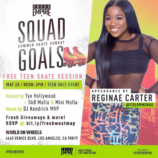 Reginae Carter To Host An Event At World Of Wheels In Los Angeles