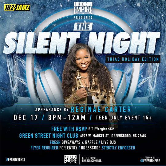 Reginae Carter To Host A Meet & Greet Session At Greene Street LIVE In North Carolina
