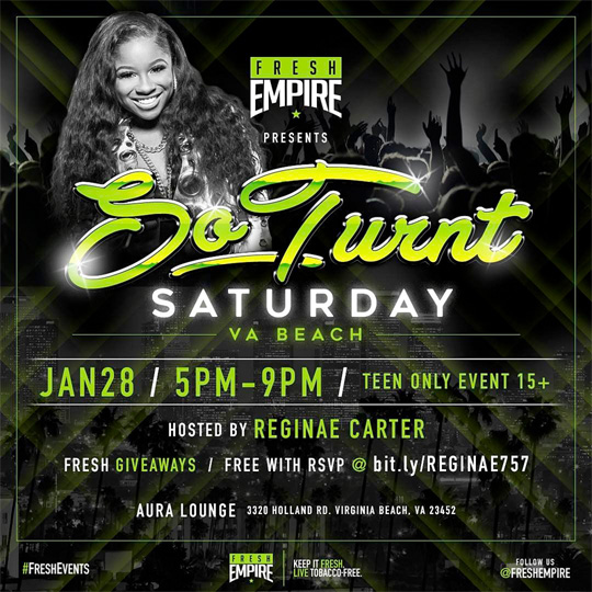 Reginae Carter To Host So Turnt Saturday At Aura Lounge Nightclub In Virginia Beach