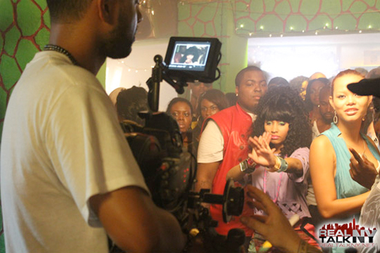 On The Set Of Sean Kingstons Letting Go Feat Nicki Minaj Video Shoot