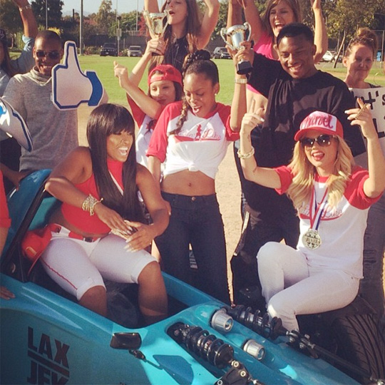 Shanell, Chanel West Coast, Lil Twist & Mack Maine On Set Of Hittin Like Video Shoot