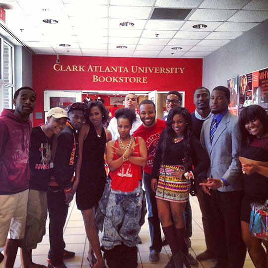 Shanell Attends A Listening Session At Clark Atlanta University