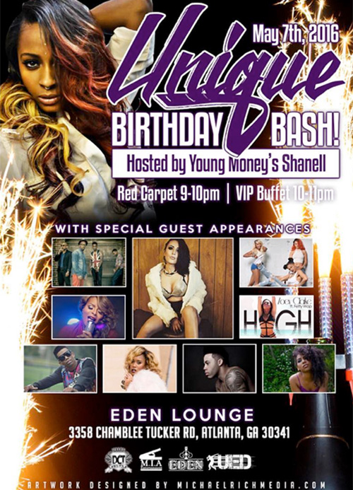Shanell To Host A Launch Party For UED Studios At Eden Lounge In Atlanta