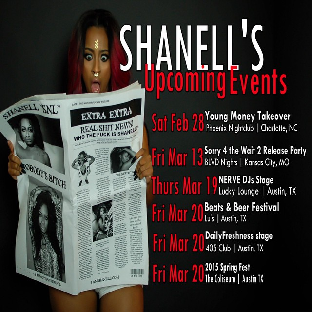 Shanell Reveals Her Upcoming Events For February & March