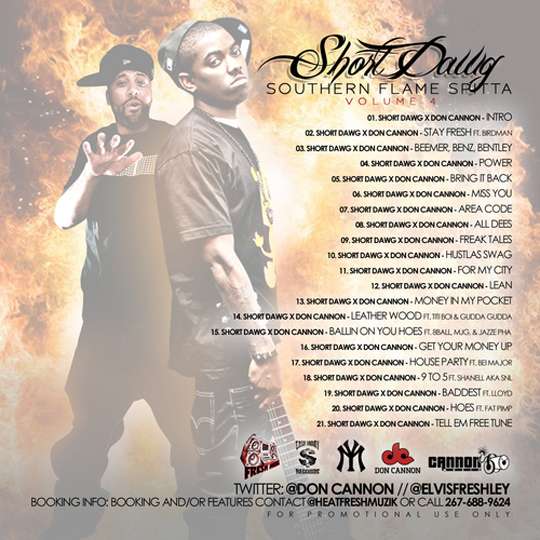 Short Dawg Southern Flame Spitta Vol 4 - Mixtape Download