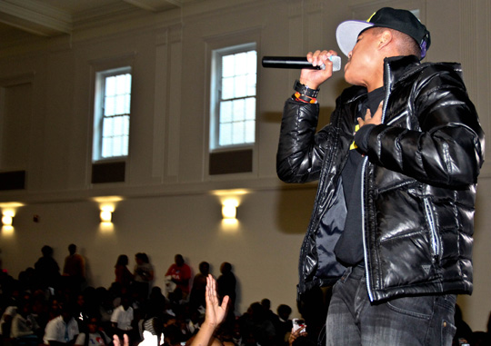 Torion Performs At Anacostia High School For Inaugural Weekend