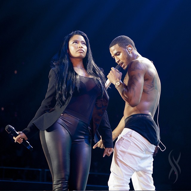 Trey Songz Brings Out Nicki Minaj To Perform Touchin, Lovin Los Angeles