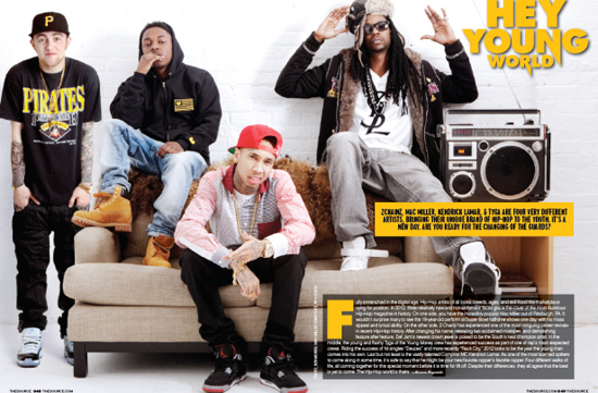 Tyga, 2 Chainz, Mac Miller & Kendrick Lamar The Source Magazine