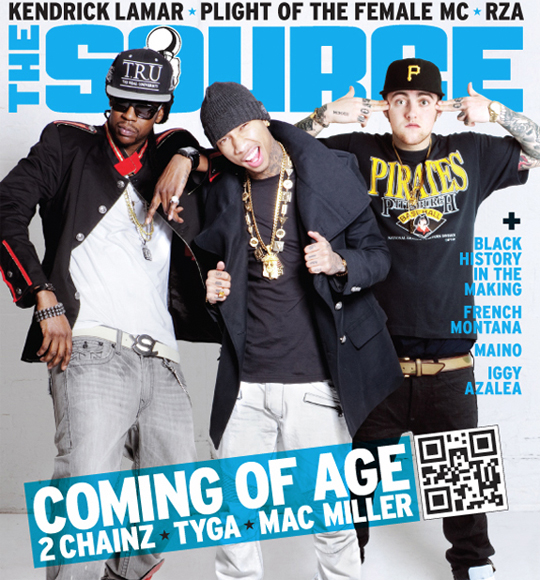Tyga, 2 Chainz & Mac Miller Cover The Source Magazine