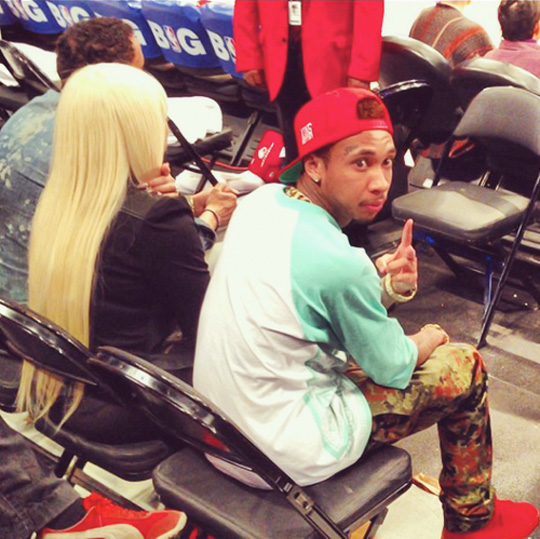 Tyga & Blac Chyna Watch Clippers vs Lakers Game On Valentines Day