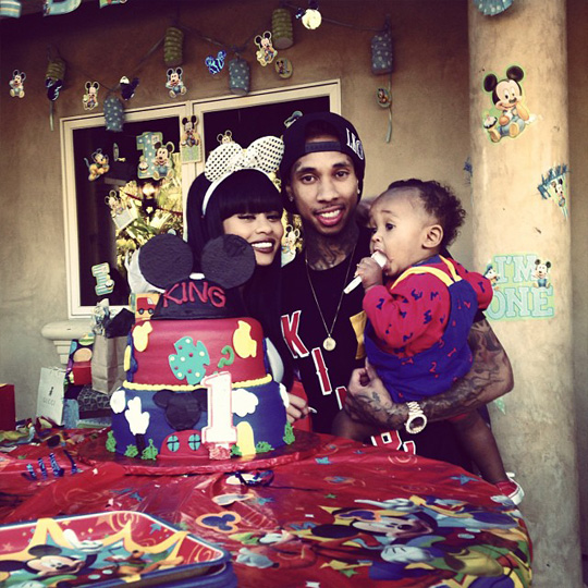 Tyga & Blac Chyna Celebrate King Cairo First Birthday With A Mickey Mouse Party