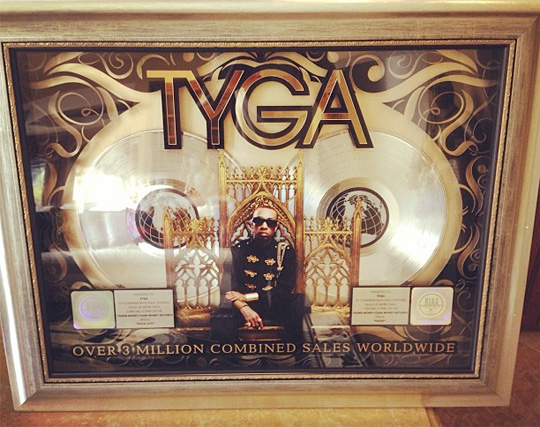 Tyga Careless World Album Goes Triple Platinum