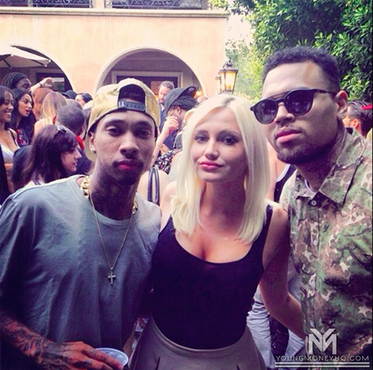 Tyga Attends Chris Brown Surprise Welcome Home Party