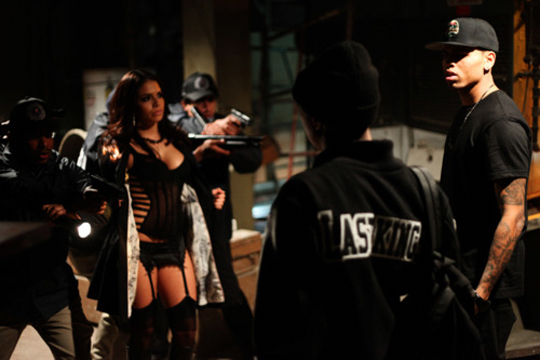 On Set Of Tyga & Chris Browns Wonder Woman Video Shoot