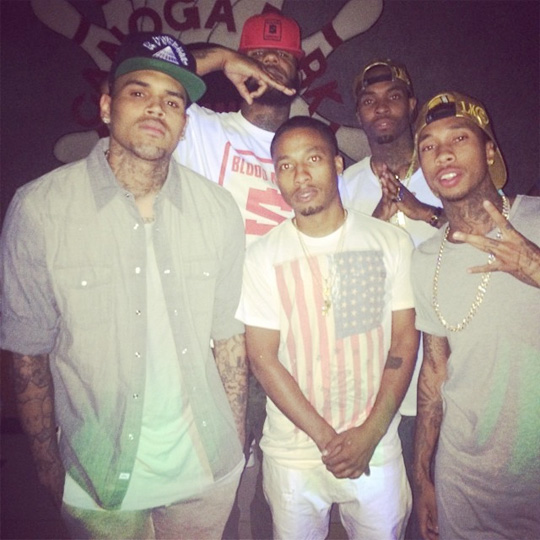 Tyga & Cortez Bryant Attend The Game Celebrity Bowling Game In California