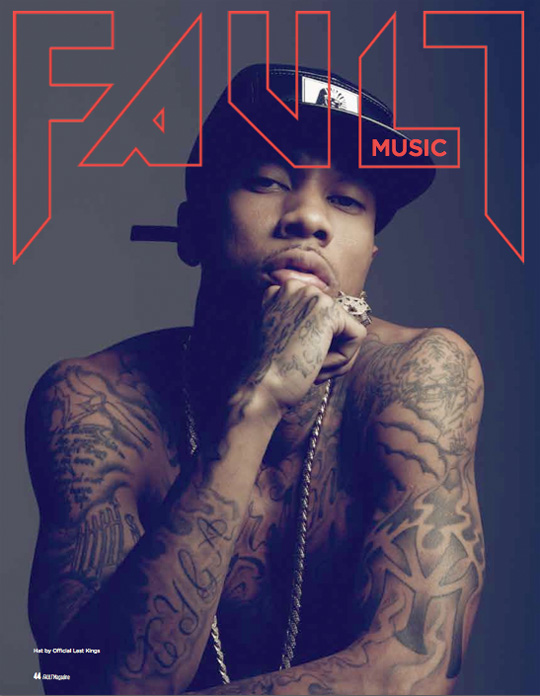 Tyga On The Front Cover Of FAULT Magazine Issue 19 & Photo Shoot