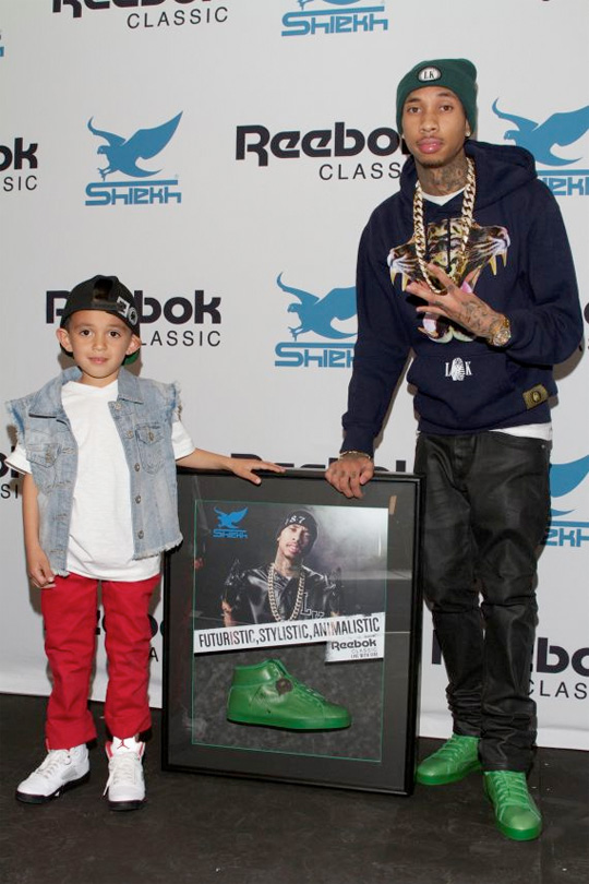 Tyga Attends Launch Of His T-Raww Sneakers At Shiekh Shoes In Los Angeles
