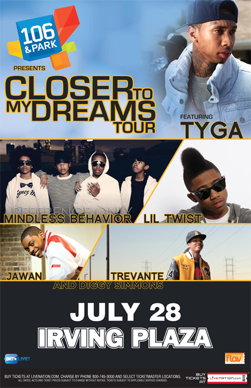 Tyga & Lil Twist Closer To My Dreams Tour Giveaway