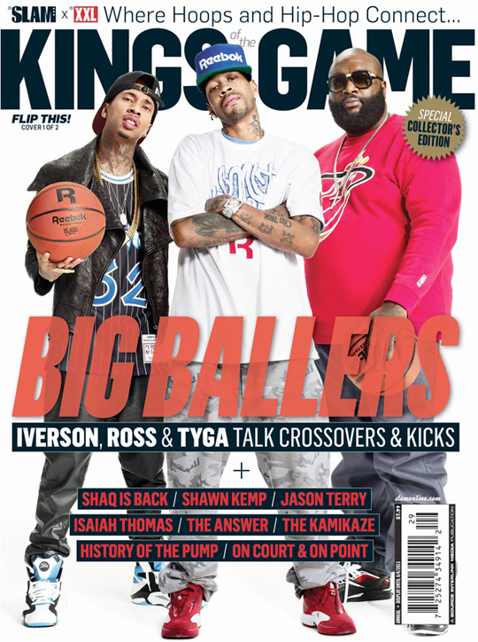 Tyga, Rick Ross & Allen Iverson Cover XXL & SLAM Magazine Kings Of The Game Issue
