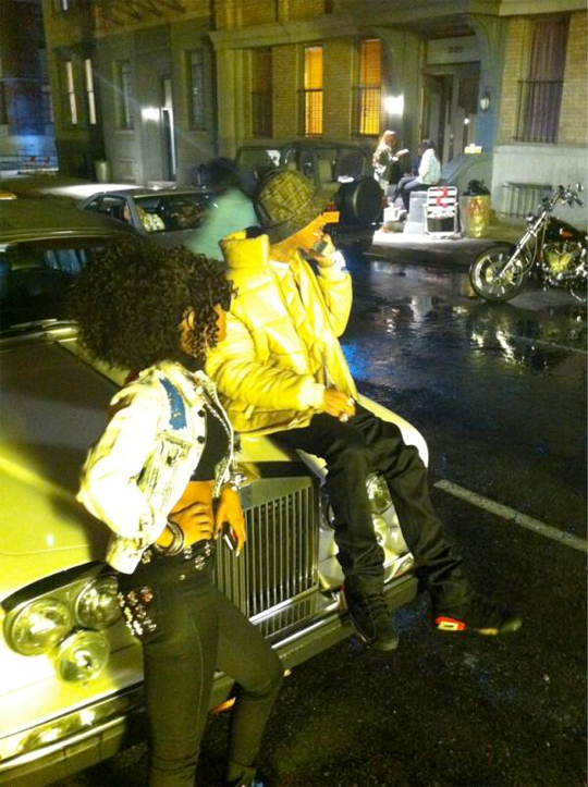 Pictures Of Tyga Shooting Still Got It Music Video With Teyana Taylor