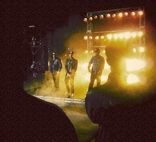 Pictures Of Tyga, T.I. & Young Jeezy On Set Of Rack City Remix Video Shoot