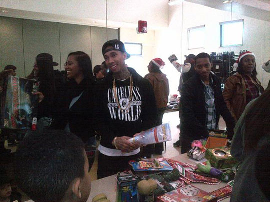 Pictures Of Tyga Hosting Toy Giveaway In Los Angeles