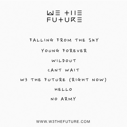 Tracklist For W3 The Future Debut EP