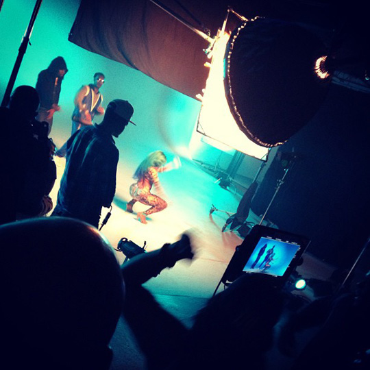 On Set Of Wale, Nicki Minaj & Juicy J Clappers Video Shoot