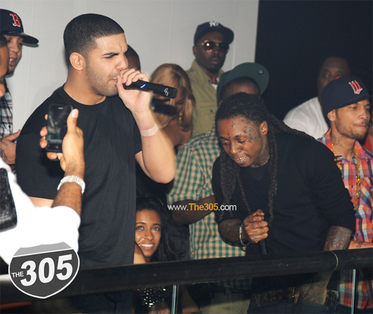 Lil Wayne & Drake At Cameo Nightclub On New Years Eve
