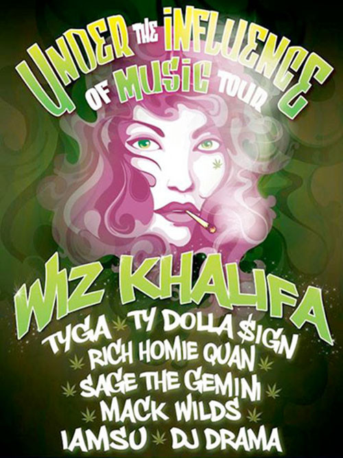 Wiz Khalifa Announces Dates For His Under The Influence Of Music Tour With Tyga This Summer